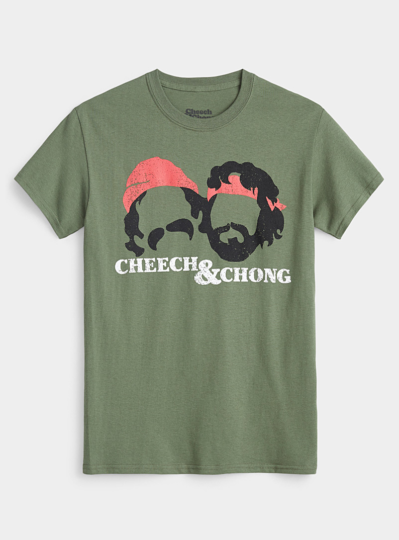 Djab Mossy Green Cheech & Chong T-shirt for men
