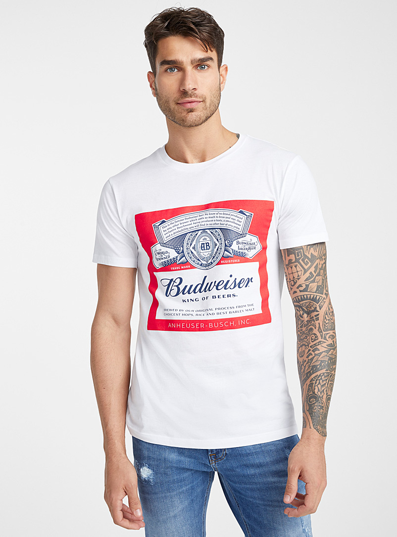 Budweiser T-shirt - Prints - White