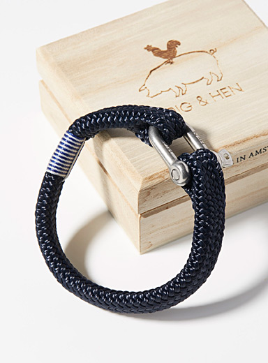 Gorgeous George navy bracelet