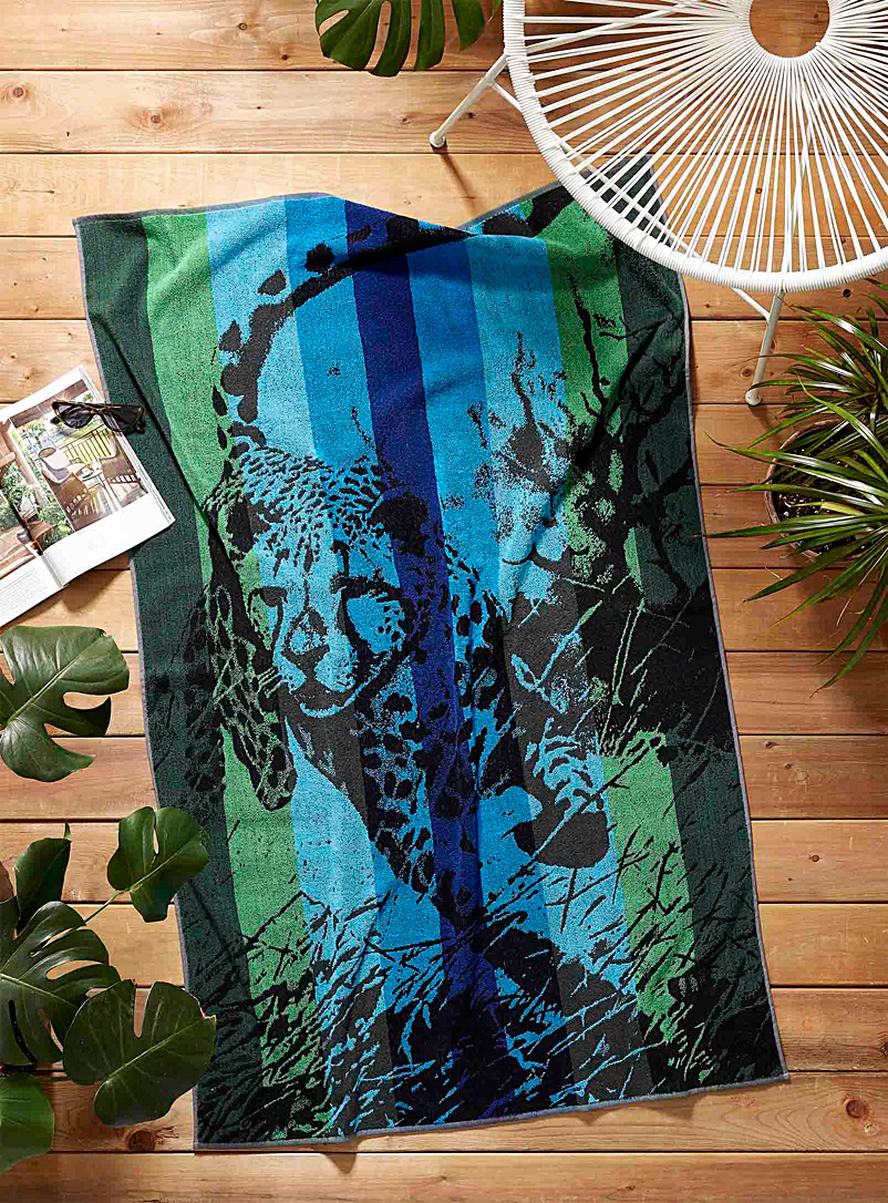 Simons Maison Assorted Wilderness beach towel  95 x 150 cm