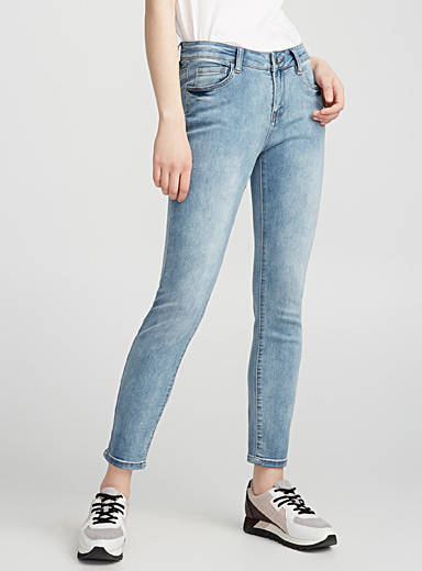 Pale-blue stretch jean