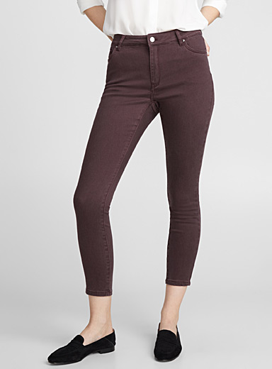 Purple skinny ankle jean