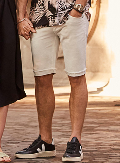 White denim Bermudas