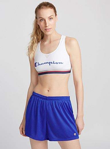 Sporty retro logo bra top