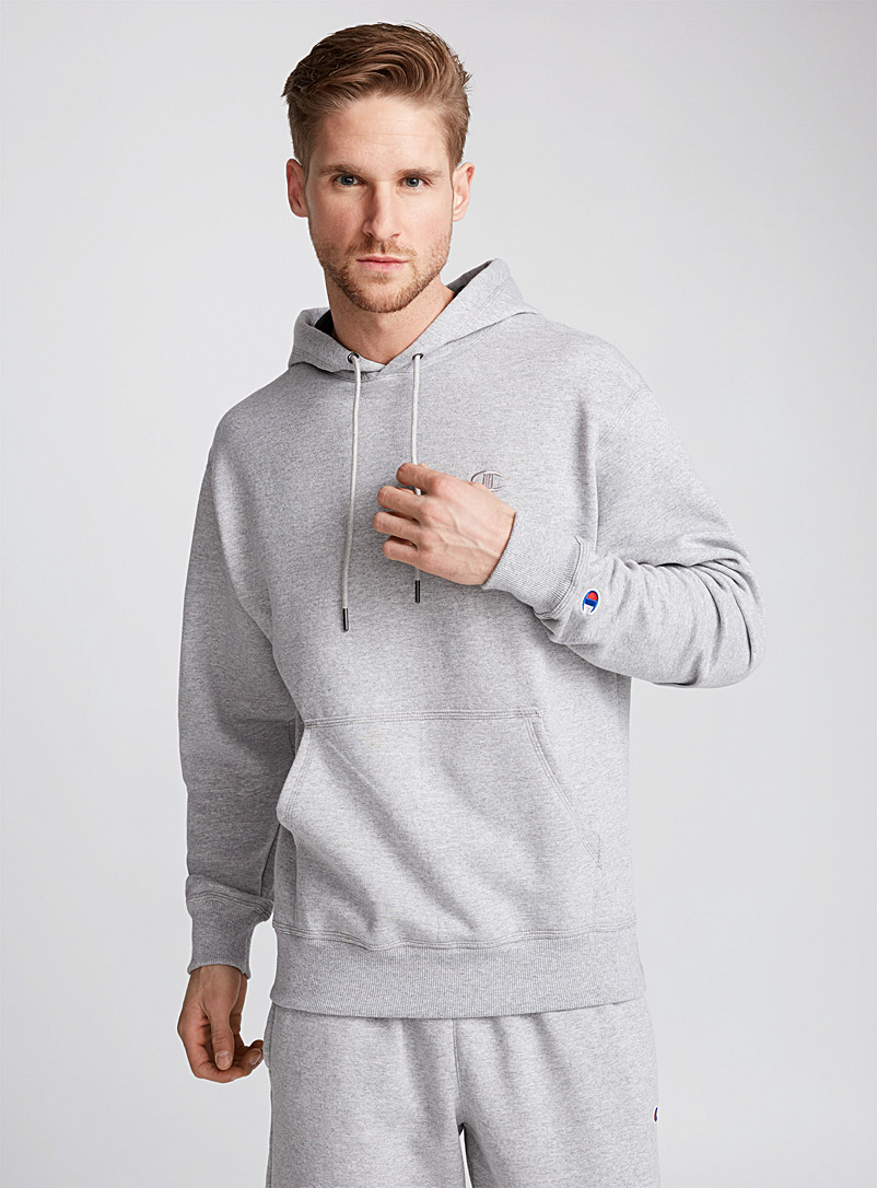 Le sweat à capuche Powerblend - Vie active - Gris