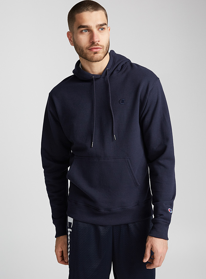 Champion Marine Blue Powerblend hoodie for men