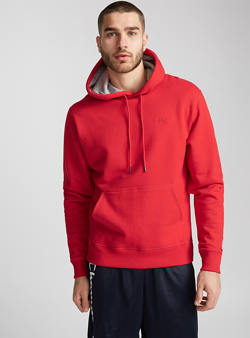 Champion Red Powerblend hoodie for men