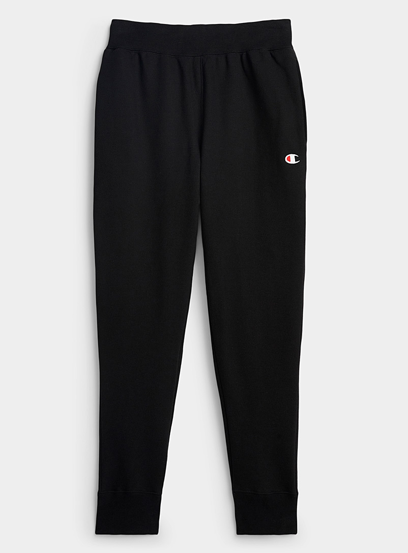Champion Black Reverse Weave fleece joggers for men