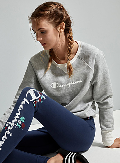 Le sweat chiné logo