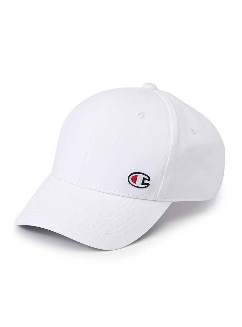 Embroidered initial cap - Caps - White