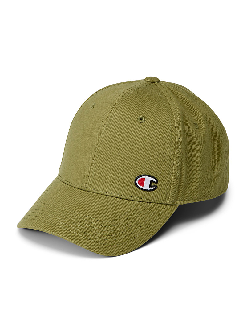 Champion Khaki Embroidered initial cap for men