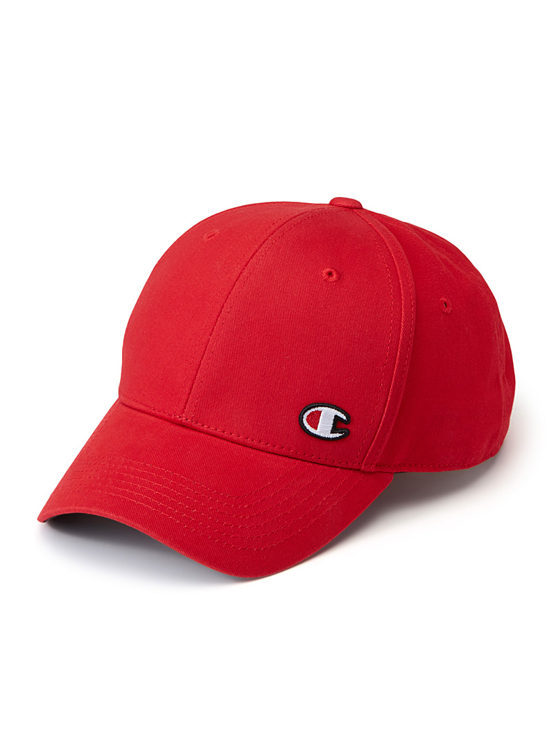 Champion Red Embroidered initial cap for men