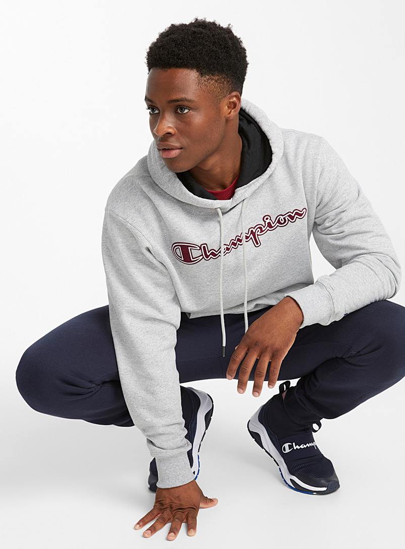 Le sweat capuchon graphique Powerblend - Chandails - Charbon