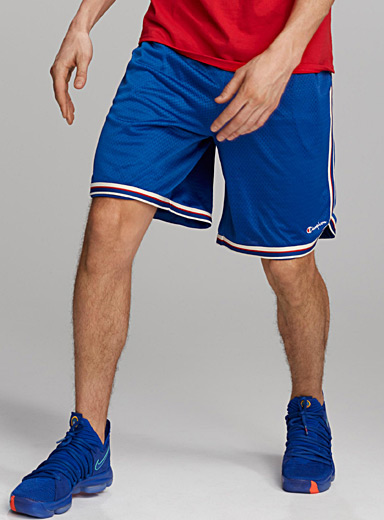 Vertical stripe basketball shorts