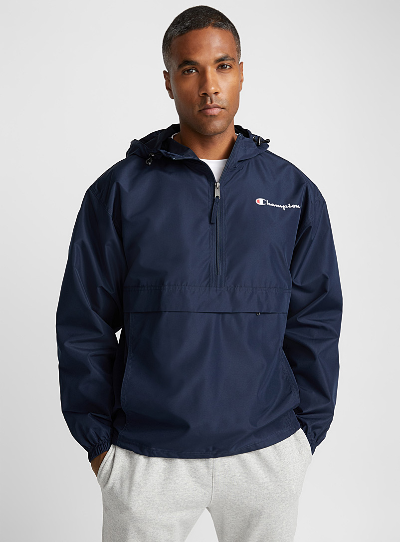 Champion Blue Iconic packable anorak for men