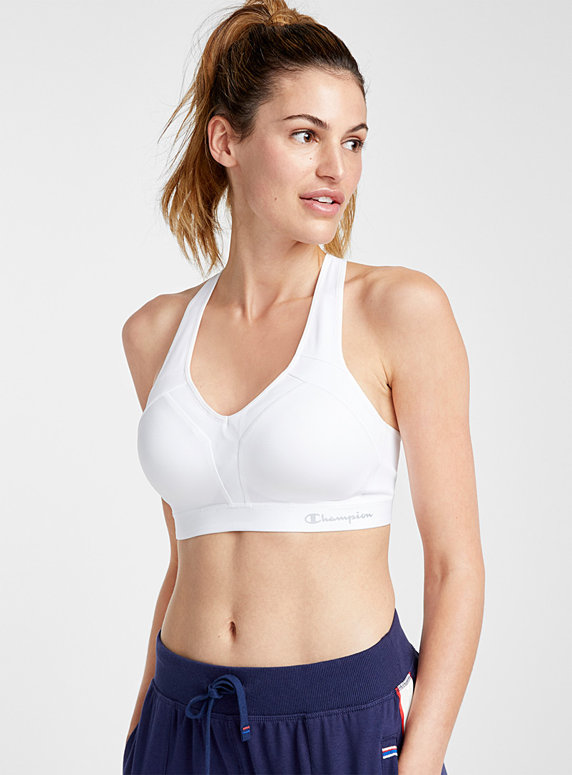 Champion White Motion Control mesh-touch bra for women