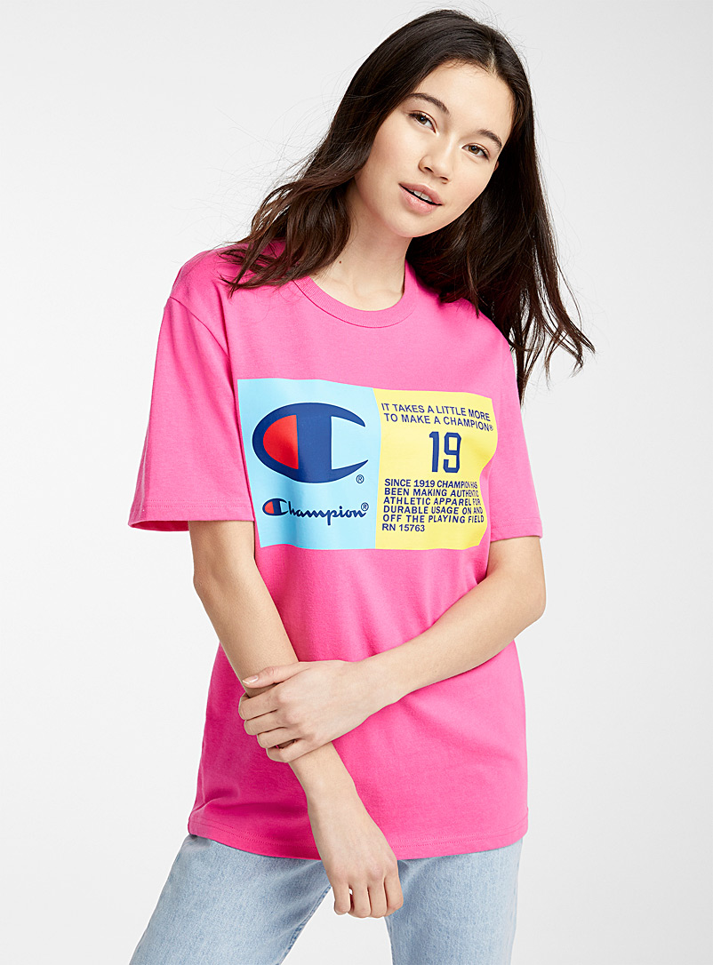 Champion Pink Life Heritage tee for women