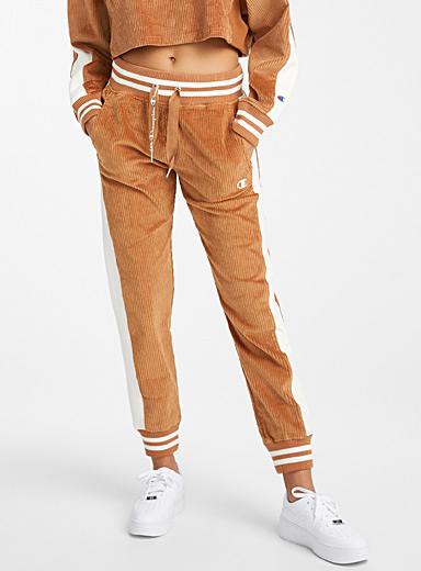 Jersey band corduroy joggers