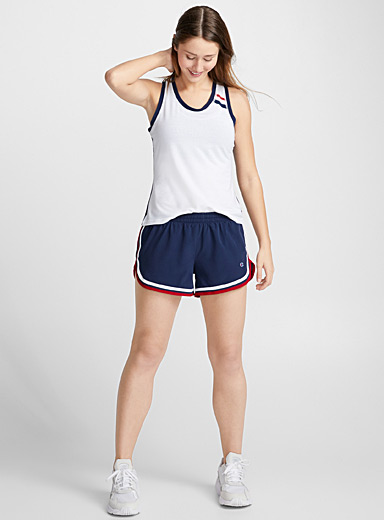 Woven athletic short