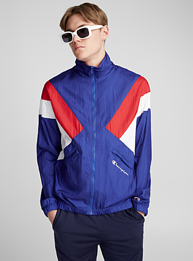 Nylon block coach jacket