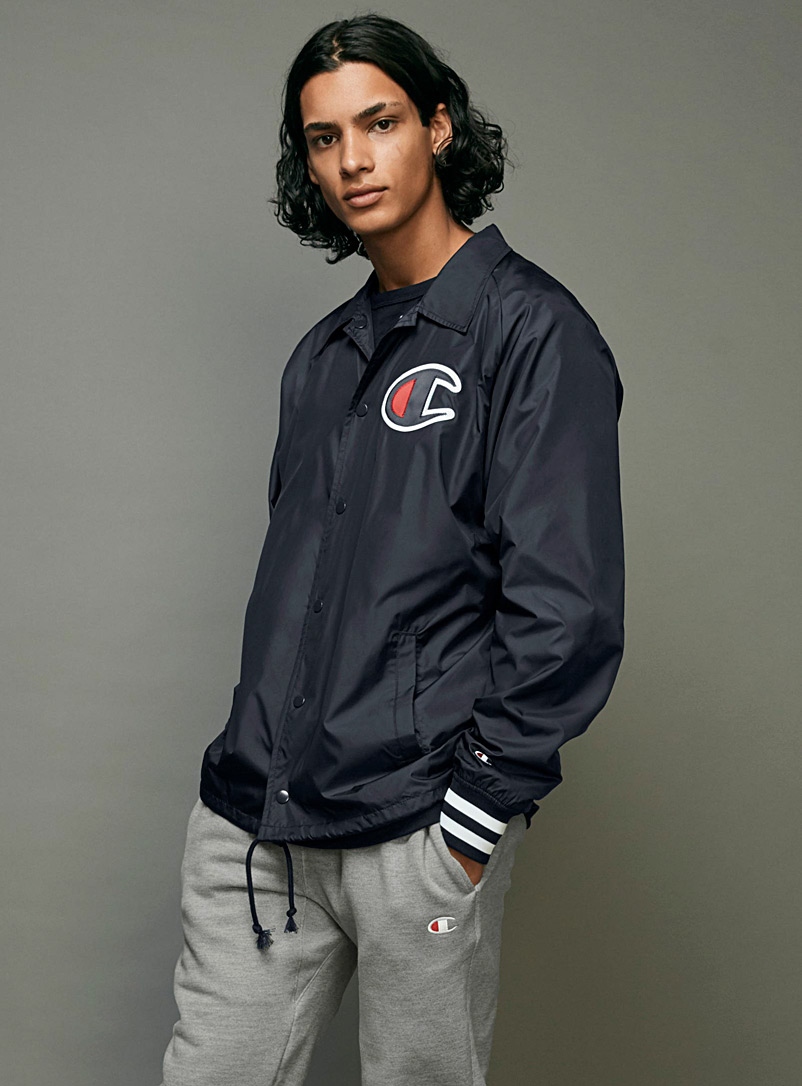 Champion Dark Blue C-logo coach jacket for men