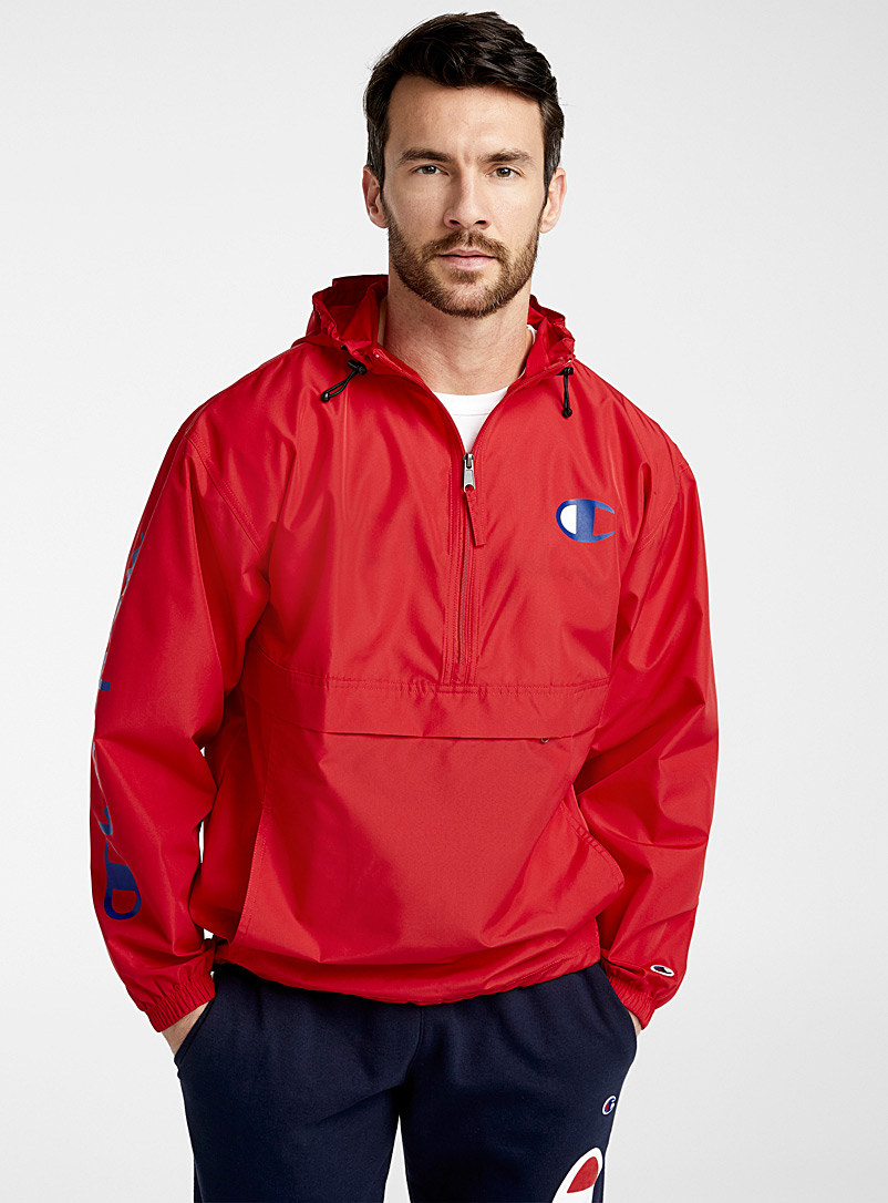 Champion Red Signature sleeve anorak for men