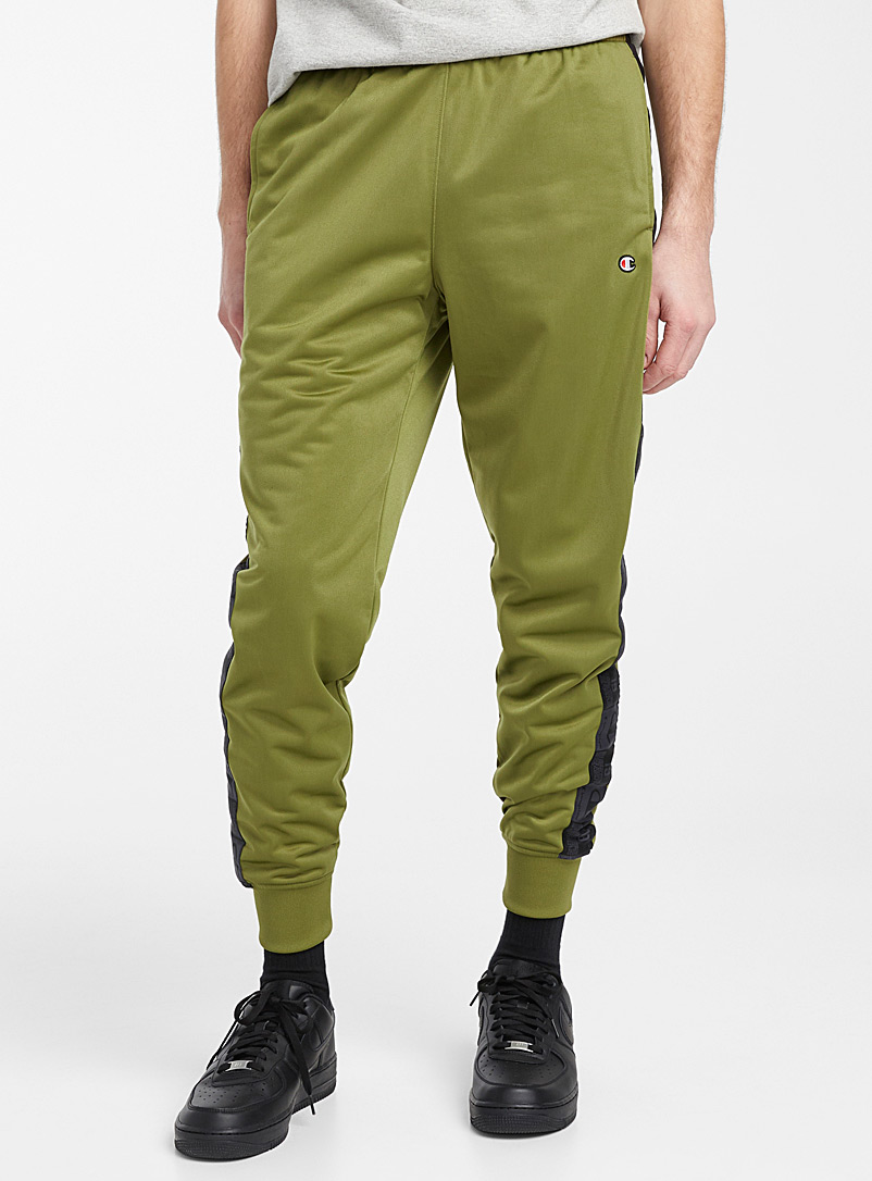 Champion Mossy Green Logo band track pant for men