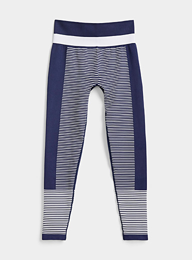 Champion Marine Blue Striped block legging for women