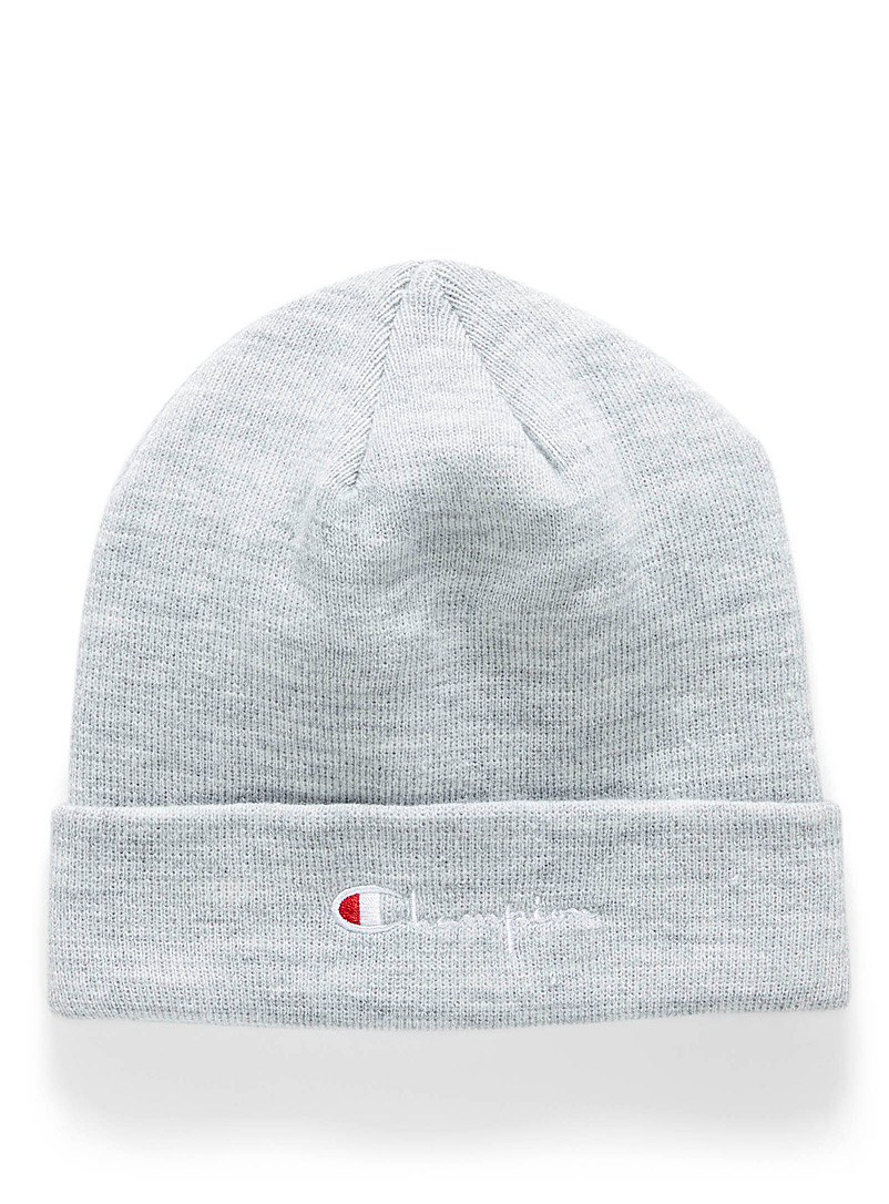 Champion Charcoal Embroidered signature tuque for men