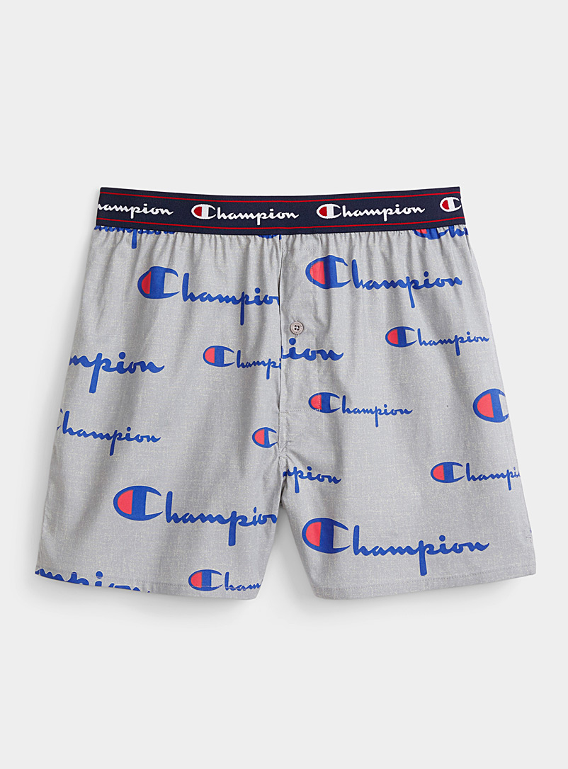 Champion Charcoal Multi-logo loose trunk for men
