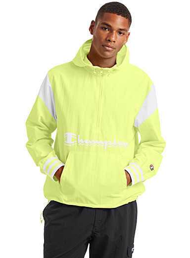 Champion Bright Yellow Ripstop nylon anorak for men