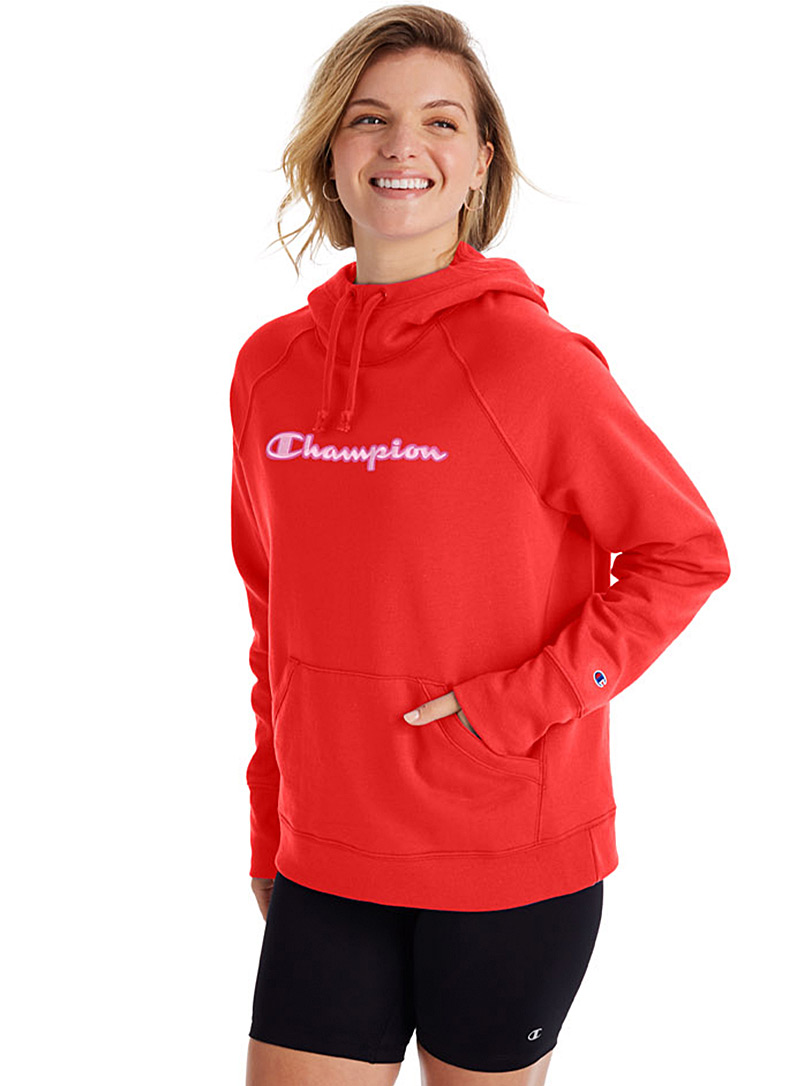 Champion Red Boyfriend hoodie for women