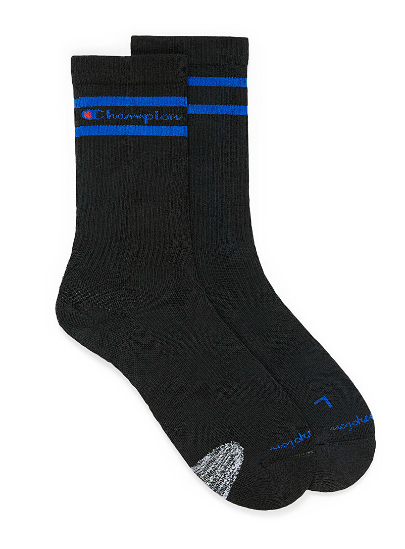 Champion Black Compression sport socks for men