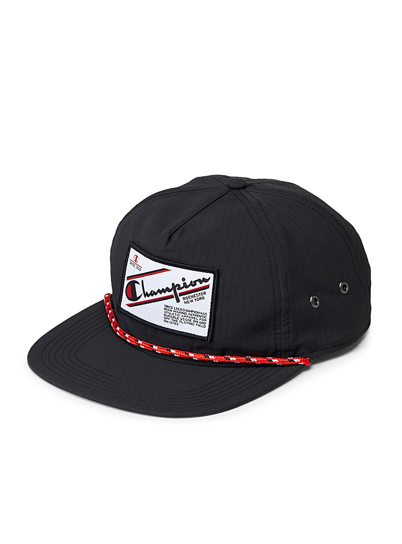 Champion Black 100 nylon cap for men