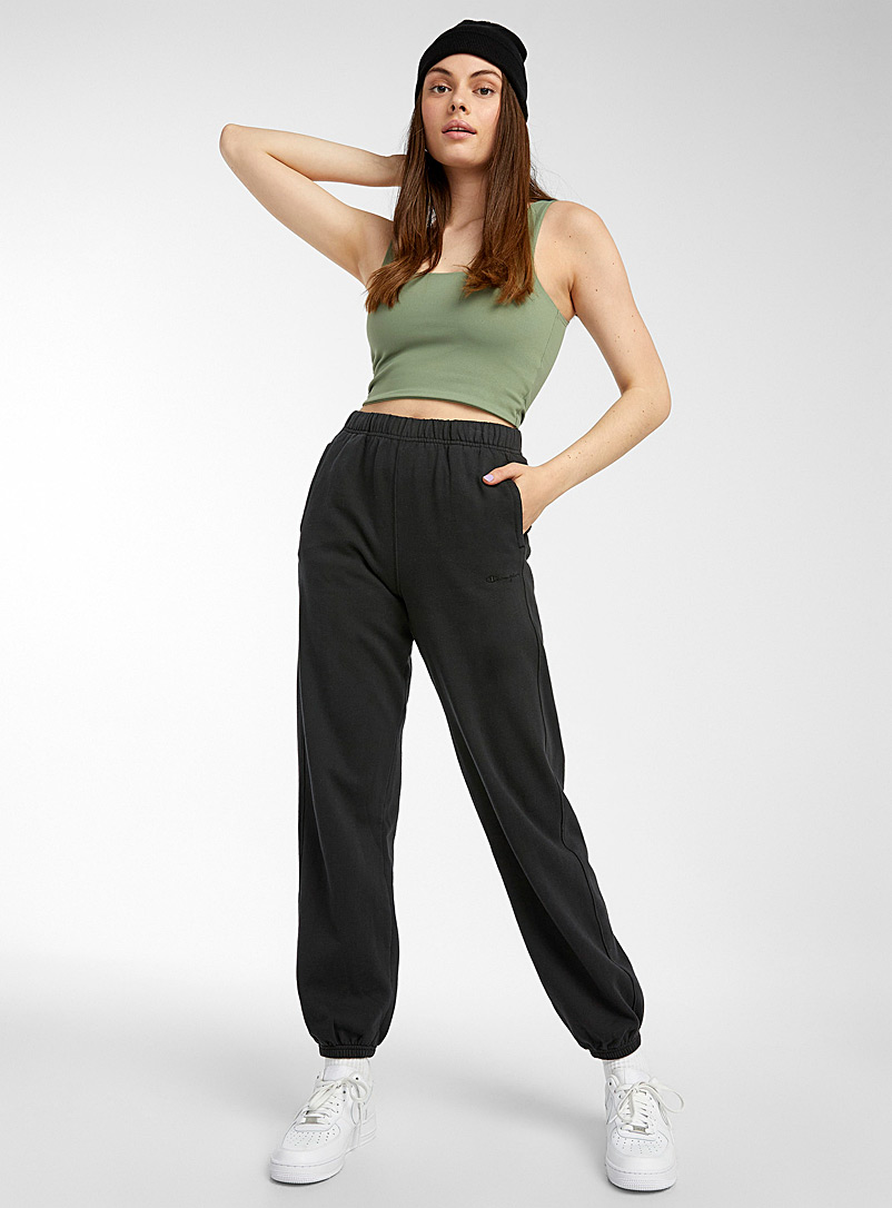 Champion Black Faded boyfriend joggers for women