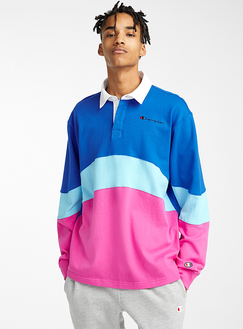 Champion: Le polo rugby pastel Rose pour homme