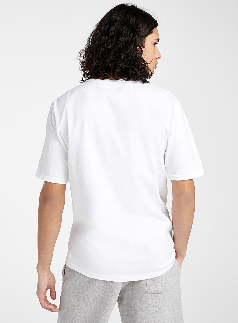 Champion White Cursive logo T-shirt for men