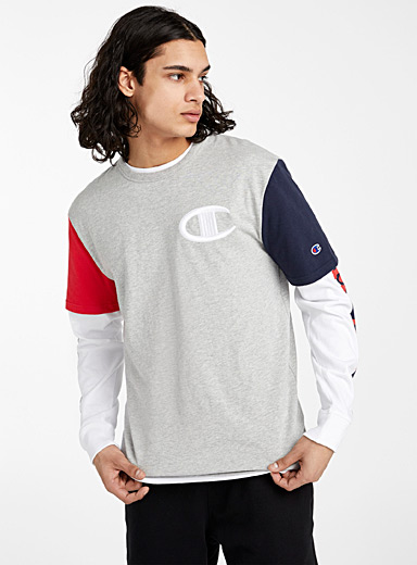 Champion Grey Block sleeve T-shirt for men