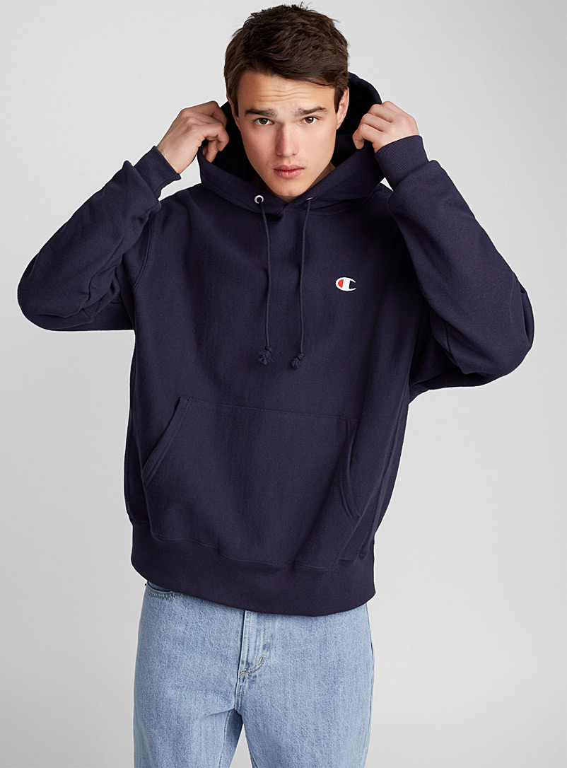 Champion Marine Blue Authentic athletic hoodie for men