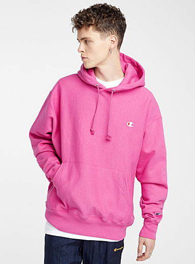 Champion Medium Pink Authentic athletic hoodie for men