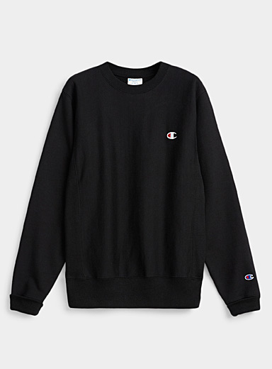 Champion Black Authentic crew neck sweatshirt for men