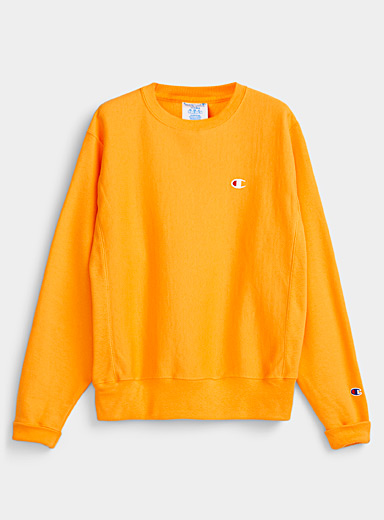 Champion Golden Yellow Authentic crew neck sweatshirt for men
