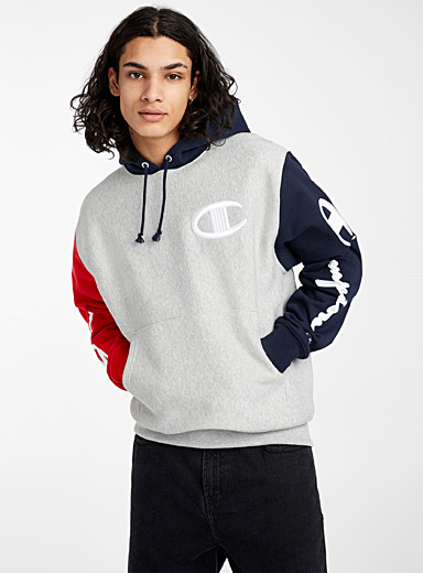 Champion Grey Signature tricolour hoodie for men