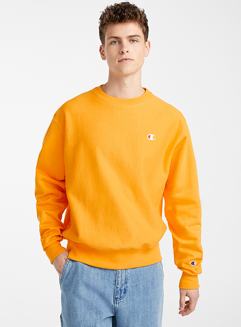 Champion Golden Yellow Colourful mini logo sweatshirt for men