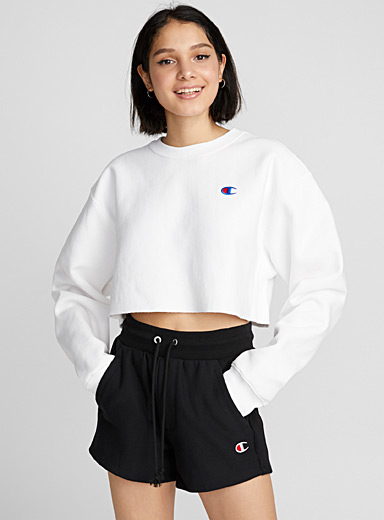 Embroidered logo short