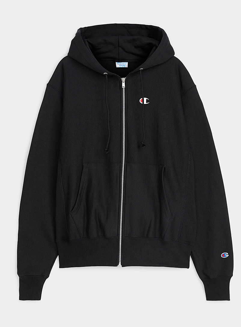 Champion Black Authentic zip hoodie for men