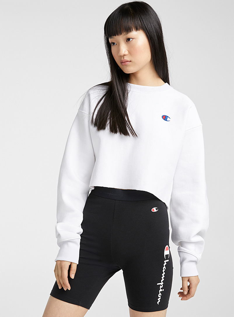 Champion Black Signature logos biker short for women