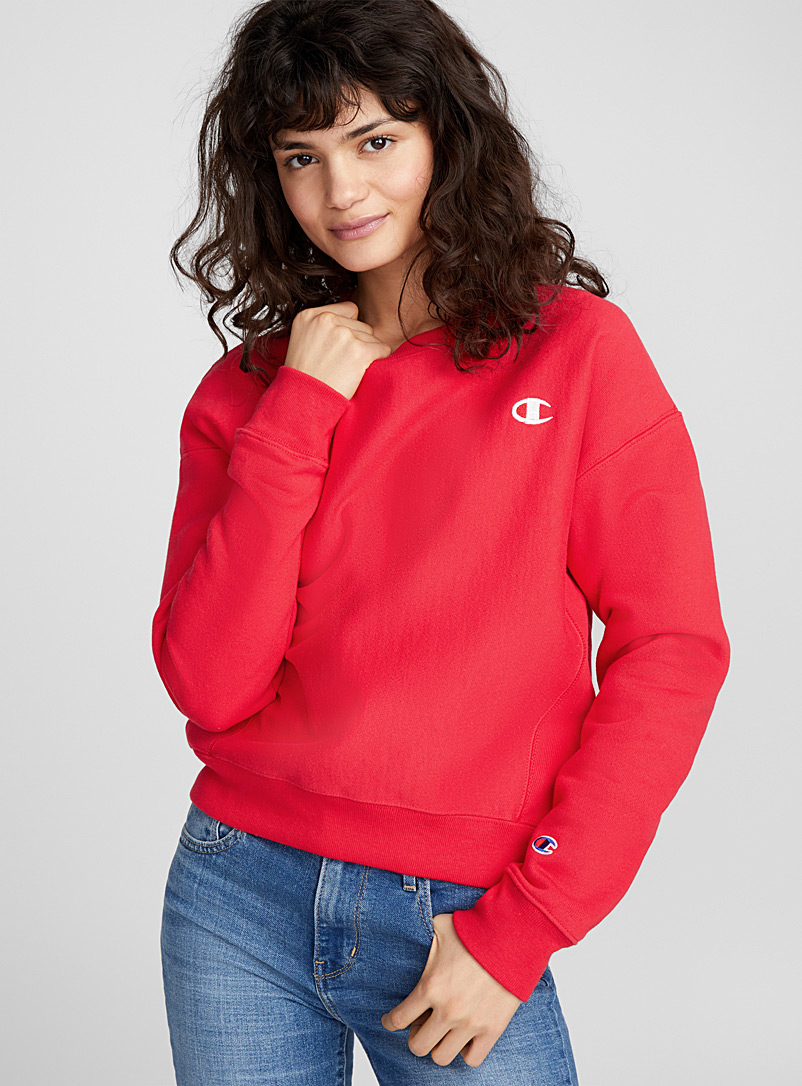Embroidered logo sweatshirt - Sweatshirts & Hoodies - Red