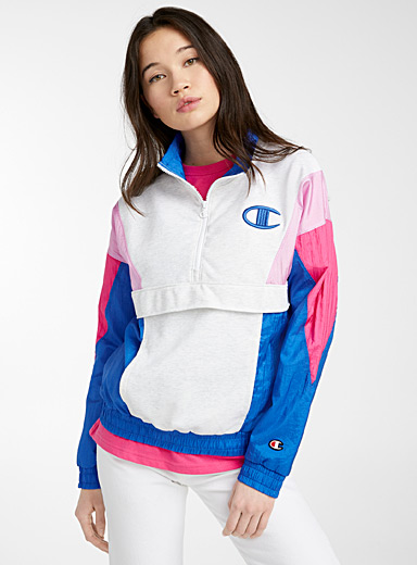 Colour block half-zip sweatshirt