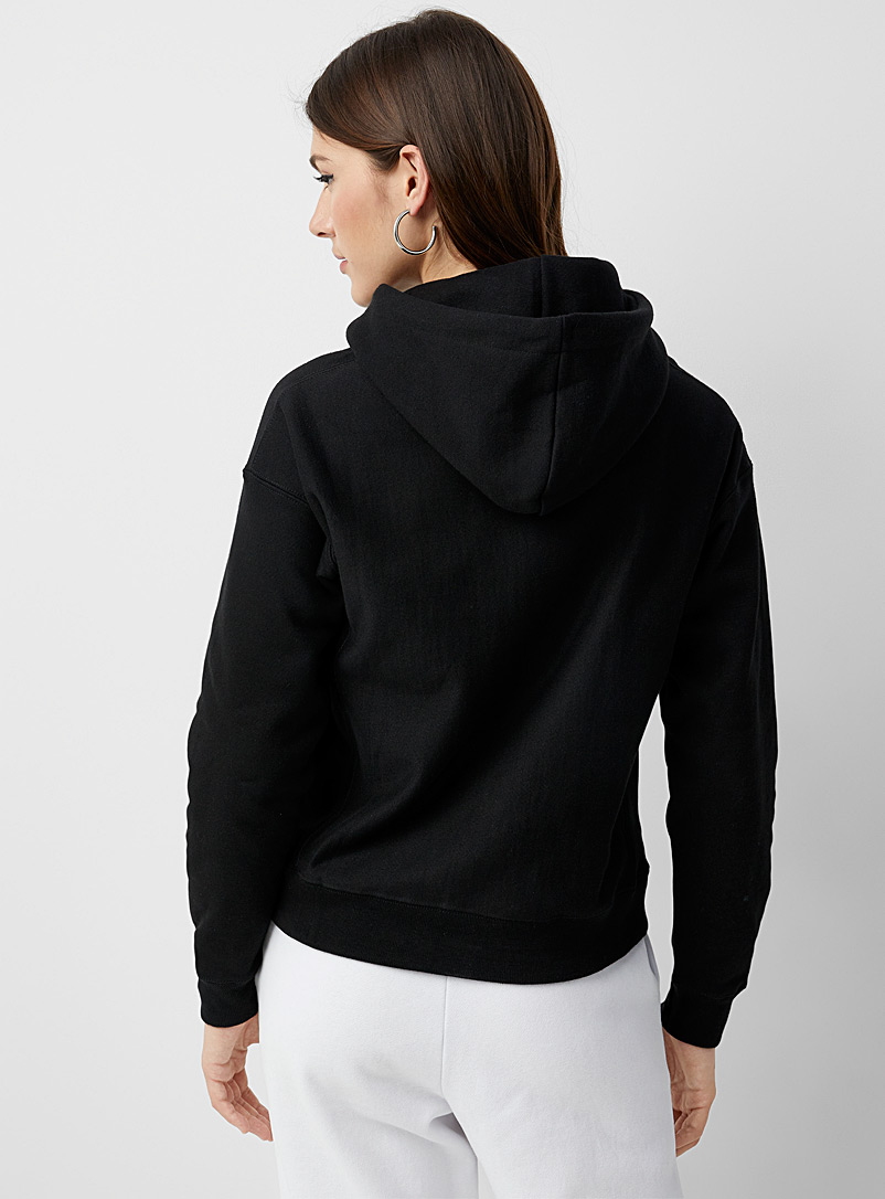 Embroidered logo hoodie - Sweatshirts & Hoodies - Black